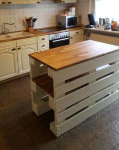 Diy Outdoor Kitchen, Home Decor Kitchen, Home Kitchens, Kitchen Design, Pallet Furniture Designs, Wooden Pallet Projects, Wooden Pallet Furniture, Furniture Makeover, Diy Furniture