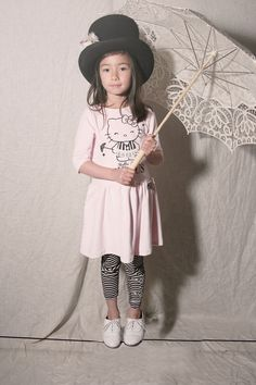 Pink Velour Umbrella Misha Lulu for Hello Kitty dress