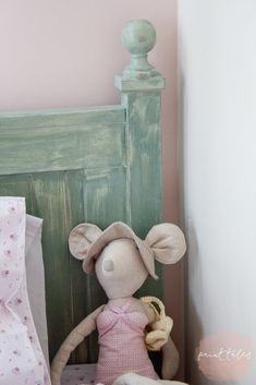 Paint Tales - Country style kids bed painted in custom mix Miss Mustard Seed milk paint