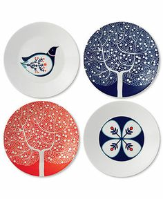 Royal Doulton Dinnerware, Set of 4 Fable Appetizer Plates - Casual Dinnerware - Dining & Entertaining - Macy's