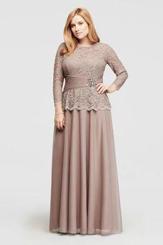 Modest Plus Size Gown
