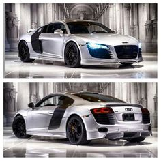 Completely customized R8 full body kit and satin silver paint sexy as hell!