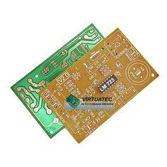 Placa p/ montar fonte ajustável 0V á 50V - grátis CI LM723!