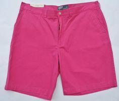 POLO Ralph LAUREN Shorts NEW Fuchsia PINK 32 Flat FRONT Cotton PROSPECT Short SZ #PoloRalphLauren #FlatFront