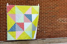 Scrappy Star Quilt - InColorOrder.com