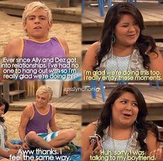 Austin and ally Best Tv Shows, Best Shows Ever, Favorite Tv Shows, Disney Channel Shows, Disney Shows, Old Disney, Disney Stuff, Raini Rodriguez, Garrett Clayton