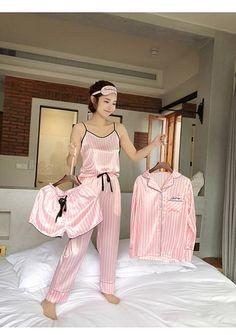 Cute Pajama Sets, Cute Pajamas, Cute Sleepwear, Sleepwear Women, Silk Sleepwear, Satin Pajamas, Pyjamas, Pink Silk Pajamas, Pajama Outfits
