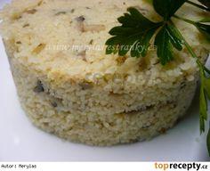 Přílohový kuskus se žampiony Baked Potato, Quinoa, Grains, Food And Drink, Menu, Potatoes, Rice, Baking, Ethnic Recipes