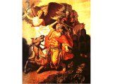 `Balaam and the Ass` by Rembrandt. Panel, 1626. Paris, Musee Cognacq-Jay..