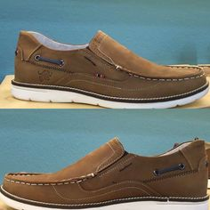 #leather shoes in taupe color one of the best choice in boat style great style for a unique look