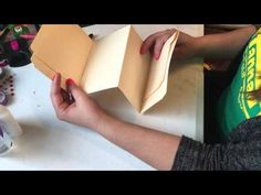 Snail Mail File Folder Flipbook Tutorial OR File Folder Mini Album Tutorial… Art Journal Tutorial, Mini Album Tutorial, Mini Scrapbook Albums, Scrapbook Cards, Mini Books, Flip Books, Snail Mail Flipbook, Envelope Book, Snail Mail Pen Pals
