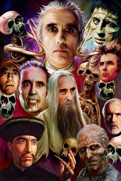 "Classic Hammer Films : Art ""The Masters Of Horror"" Christopher Lee by Paul Winters"