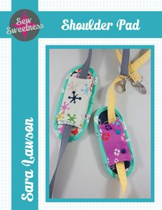 Tutorial: Shoulder Pad for Straps - Sew Sweetness Diy Bag Strap, Purse Strap, Arm Sling, Handmade Purses, Handmade Handbags, Handmade Gifts, Craft Bags, Bag Patterns To Sew, Sewing Patterns
