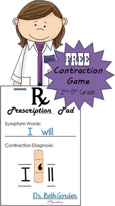FREE Band Aid Contraction Game - this is such a fun educational game to help grade grade grade and grade students practice contractions. Perfect for centers homeschool extra practice at home or for summer learning language arts. 2nd Grade Ela, 4th Grade Reading, Second Grade, Grade 2, Contraction Games, Fun Educational Games, Educational Software, Educational Technology, Free Teaching Resources