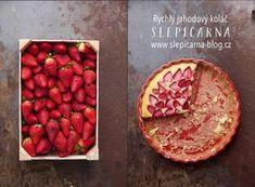 České jahody ahrnkový koláč Dessert Recipes, Desserts, Strawberry, Apple, Fruit, Czech Republic, Blog, Tailgate Desserts, Apple Fruit