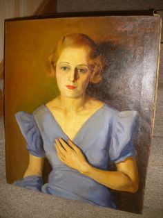 OIL CANVAS YOUNG BEAUTIFUL WOMAN PORTRAIT PAINTING ASCHER JACOBS