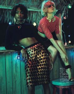 Swept Away | Jourdan Dunn & Daria Strokous | Josh Olins #photography | Vogue Japan ( Vogue Nippon ) April 2012