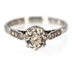1920's Old European Cut Diamond Engagement Ring