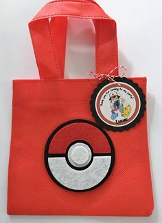 Loot Bags, Favor Bags, Treat Bags, Pokemon Themed Party, Pokemon Birthday, Felt Mask, Event Organization, Pikachu, Kids Bags