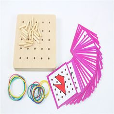 Baby Toy Montessori Creative Graphics Rubber Tie Nail Boards with Cards Childhood Education Preschool Kids Brinquedos Juguetes-in Math Toys from Toys & Hobbies on Aliexpress.com | Alibaba Group