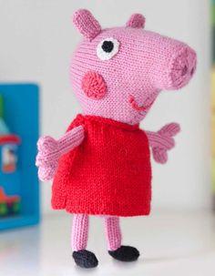 Ravelry: Peppa Pig pattern by Louise Watling Animal Knitting Patterns, Amigurumi Patterns, Crochet Patterns, Bear Patterns, Crochet Ideas, Peppa Pig Soft Toy, Free Knitting, Baby Knitting, Knitting Toys