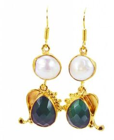 Riyogems-Pearl-Green-Onyx-Gold-Plated-Sets-Earrings-L-1-5in-Gpemul-52054