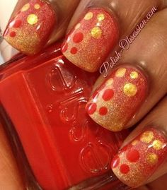 http:red and gold #nail art #nails www.finditforweddings.com