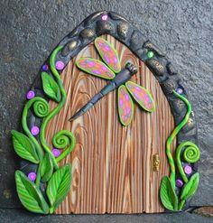 Dragonfly Fairy Door Miniature Fairy Door Fairy by sewaddictd