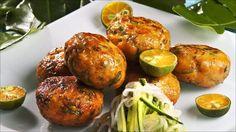 Thai-fiskekaker med agurksalat