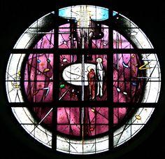 "Steibis im Allgäu - Kirche ""Verkärung Christi""  - Himmlisches-Jerusalem-Fenster"