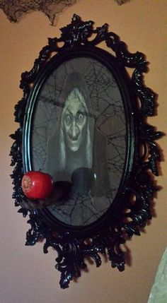 Susan Seubert Wicked Witch Mirror 2015 - Real Time - Diet, Exercise, Fitness, Finance You for Healthy articles ideas Disney Halloween Parties, Halloween 2017, Halloween Party Decor, Holidays Halloween, Halloween Themes, Halloween Crafts, Disney Parties, Halloween Stuff, Wicca