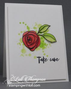 Hi everyone.  Today I'm sharing a card made with Altenew's Bamboo Rose stamp set.  LOVE this set! :)   I kept my card very CAS.  I starte...