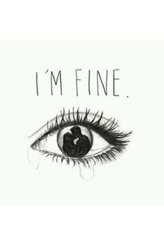 I'm Fine Quote - Cheating Quotes To Help Heal Your Broken Heart - Photos Broken Heart Photos, Broken Heart Drawings, Broken Heart Art, Broken Pictures, Broken Love, Heart Break Drawings, Quotes For Broken Heart, Love Heart Drawing, Broken Heart Tattoo