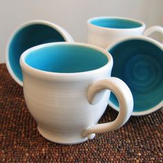 I love mugs and what could be better than blue mugs!!!