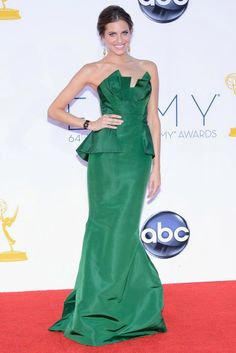 September 2012 - Allison Williams at the 64th Annual Emmy Awards in a Oscar de la Renta designed gown.