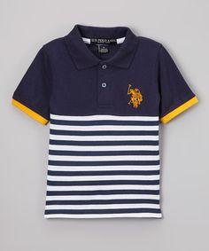 e4e320709 Loving this Navy Stripe Polo - Boys on  zulily!  zulilyfinds Boys T Shirts