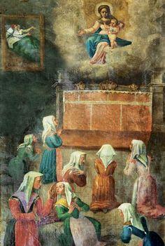 Affresco della chiesa della Madonna della paolina