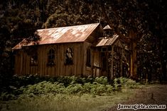 An old church from an abandoned western film set. Left to ruin and decay as nature reclaims that which is lost in time. Western Film, Old Churches, Decay, Light In The Dark, Abandoned, Westerns, Lost, House Styles, World