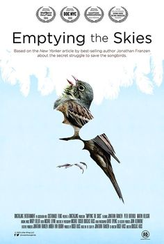 """""""Emptying the Skies"""" directed by Douglas Kass and Roger Kass. Jonathan Franzen, Popcorn Times, Best Cinematography, Lights Camera Action, Magazine Images, Environmental Education, The New Yorker, Book Photography, Movie Tv"""