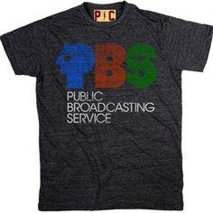 Men's Vintage PBS Logo T-Shirt, Vintage PBS Tee, Cool PBS Logo Shirt at PalmerCash.com