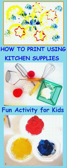 How To Paint and Print Using Kitchen Supplies –Creative Art activity for Kids | cheer and cherry