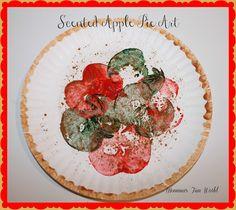 Momma's Fun World: Scented Apple pie paper plate art