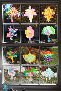 Coffee filter leaves #kids #diy #crafts #autumn