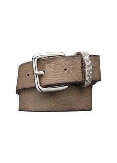 Gråbrunt bælte 23907 Belt With Decorated Belt Loops - tabacco