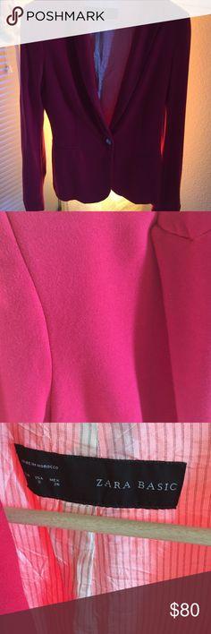 Zara pink blazer bloggers fav :) This is bloggers favorite :) gorgeous pink blazer Zara Jackets & Coats Blazers