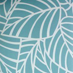Обои на флизелиновой основе 0.53х10 м листья цвет синий Ra 603606