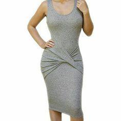 Gray Beauty Wrap Dress