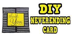 DIY NEVERENDING CARD Visit:  https://youtu.be/NVcexrkyofk   #diy #craft #crafts #card #cards #greetingcards ##greetingcard #homemade #handmade #cardmaking