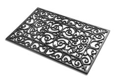 Berkeley Cast Iron Door Mat . $110.00. Simply hose down for an easy clean. Ornate distressed ironwork for a classic aesthetic. Made of cast iron, which ensures that the door mat is extremely strong and naturally durable. Raised feet prevent damage to the floor and provide extra grip. Weather resistant to ensure longevity. This beautifully ornate door mat is a superb way to enhance the entrance of your home, and is sure to leave a good first impression on all you...