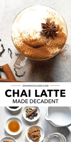 Did you know your favorite chai latte can be made at home? This delicious latte recipe from Oh How Civilized is perfect for creating a decadent tea latte you are sure to love! Chai lattes are made by blending Indian spices with black tea. Find out how you can easily make chai lattes from scratch at home! #chai #latte #tea #blacktea Chai Recipe, Latte Recipe, Recipe From Scratch, Recipe Using, Hot Tea Recipes, Masala Chai, Tea Latte, Tea Sandwiches, Beverages